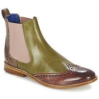 kengät Naiset Bootsit Melvin & Hamilton AMÉLIE 5 Green / Pink / BEIGE
