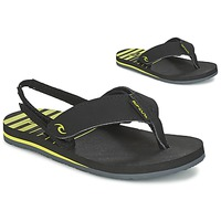 kengät Lapset Varvassandaalit Rip Curl THE ONE GROMS Black / Yellow