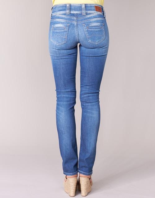 Pepe Jeans Gen Blue - Ilmainen Toimitus- Vaatteet Suorat Farkut Naiset 85