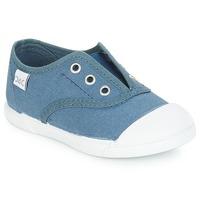 kengät Lapset Matalavartiset tennarit Citrouille et Compagnie RIVIALELLE Blue / Farkku