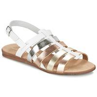 kengät Tytöt Sandaalit ja avokkaat Citrouille et Compagnie PEQUEBELLO White / DORE