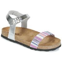 kengät Tytöt Sandaalit ja avokkaat Citrouille et Compagnie IGUANA Argenté / Monivärinen