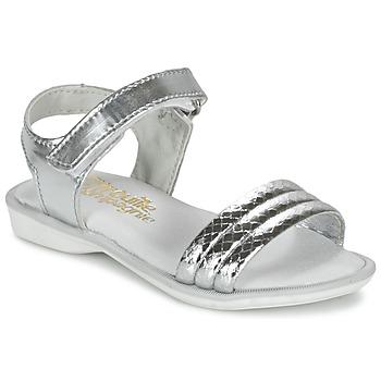 kengät Tytöt Sandaalit ja avokkaat Citrouille et Compagnie GOSAGOLA Argenté