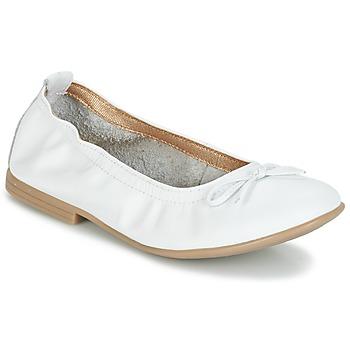 kengät Tytöt Balleriinat Citrouille et Compagnie JAPPALIE MOCA White