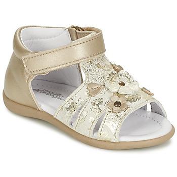 kengät Tytöt Sandaalit ja avokkaat Citrouille et Compagnie PAQUETI Beige