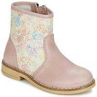 kengät Tytöt Bootsit Citrouille et Compagnie OUGAMO LIBERTY Pink