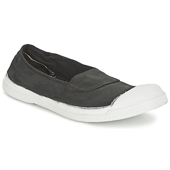 kengät Naiset Balleriinat Bensimon TENNIS ELASTIQUE Carbone
