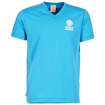 vaatteet Miehet Lyhythihainen t-paita Franklin & Marshall DOBSON Blue