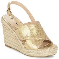 kengät Naiset Sandaalit ja avokkaat Elle CAMPO Beige / Gold