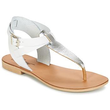 kengät Naiset Sandaalit ja avokkaat Betty London VITALLA Argenté / White
