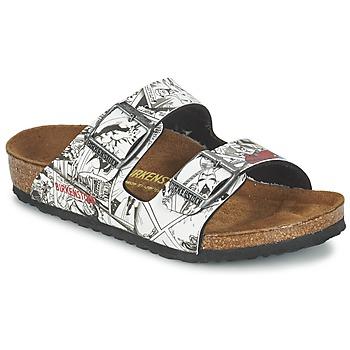 kengät Pojat Sandaalit Birkenstock ARIZONA Black / White