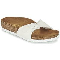 kengät Tytöt Sandaalit Birkenstock MADRID White / Paljetti