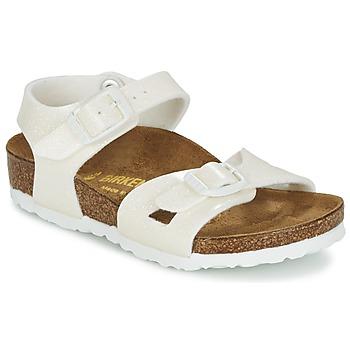 kengät Tytöt Sandaalit ja avokkaat Birkenstock RIO White