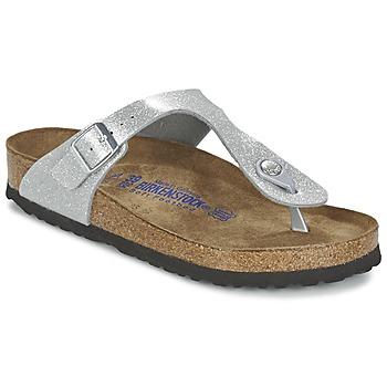 kengät Naiset Varvassandaalit Birkenstock GIZEH Silver