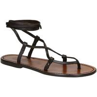kengät Naiset Sandaalit ja avokkaat Gianluca - L'artigiano Del Cuoio 518 D MORO CUOIO Testa di Moro