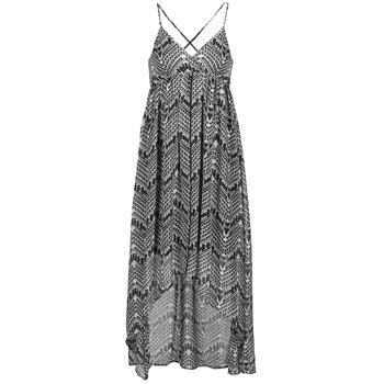 vaatteet Naiset Pitkä mekko Le Temps des Cerises LUNE Black / White