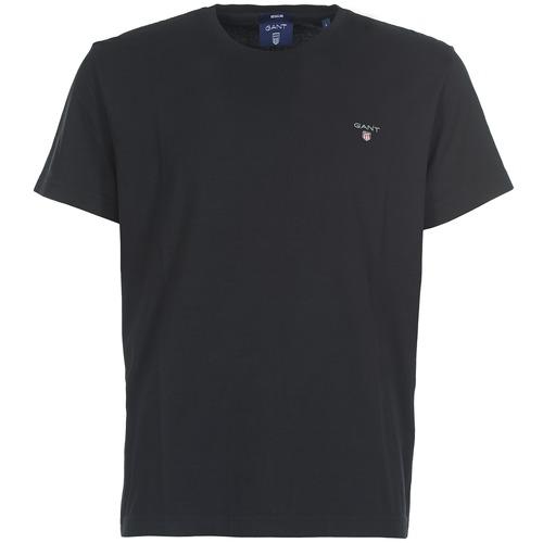 vaatteet Miehet Lyhythihainen t-paita Gant THE ORIGINAL SOLID T-SHIRT Black