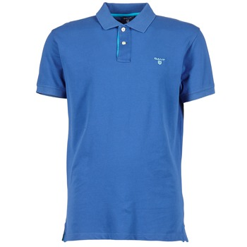 vaatteet Miehet Lyhythihainen poolopaita Gant CONTRAST COLLAR PIQUE Blue