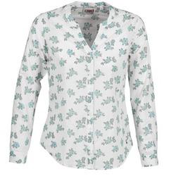 vaatteet Naiset Paitapusero / Kauluspaita Mustang FLOWER BLOUSE White / Blue