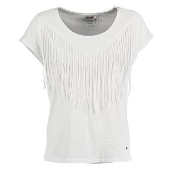 vaatteet Naiset Lyhythihainen t-paita Mustang FRINGE White