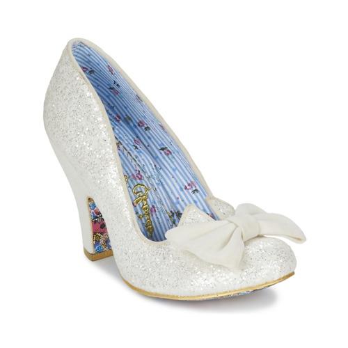 kengät Naiset Korkokengät Irregular Choice NICK OF TIME White / Paljetti