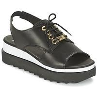kengät Naiset Sandaalit ja avokkaat Love Moschino BASIC SANDAL Black / White