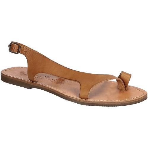 kengät Miehet Sandaalit ja avokkaat Gianluca - L'artigiano Del Cuoio 526 D CUOIO GOMMA Cuoio