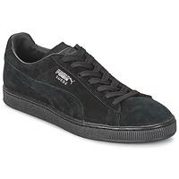 kengät Matalavartiset tennarit Puma SUEDE CLASSIC Black / Grey