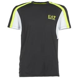 vaatteet Miehet Lyhythihainen t-paita Emporio Armani EA7 VENTUS7 Black