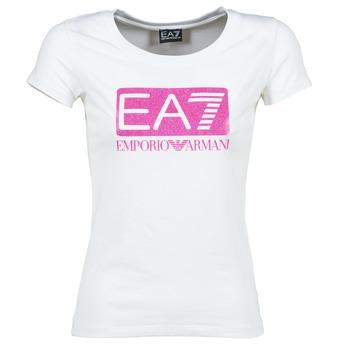 vaatteet Naiset Lyhythihainen t-paita Emporio Armani EA7 BEAKON White