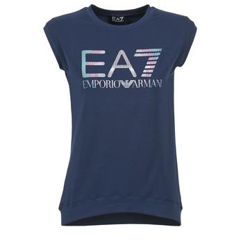 vaatteet Naiset Lyhythihainen t-paita Emporio Armani EA7 ANDROUL Laivastonsininen