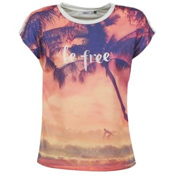 vaatteet Naiset Lyhythihainen t-paita Only BE FREE SUMMER Monivärinen