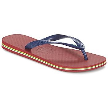 kengät Varvassandaalit Havaianas BRASIL LOGO Laivastonsininen / Red