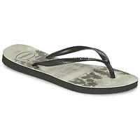 kengät Naiset Varvassandaalit Havaianas SLIM PHOTOPRINT Black / Grey