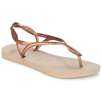 kengät Naiset Varvassandaalit Havaianas LUNA Pronssi