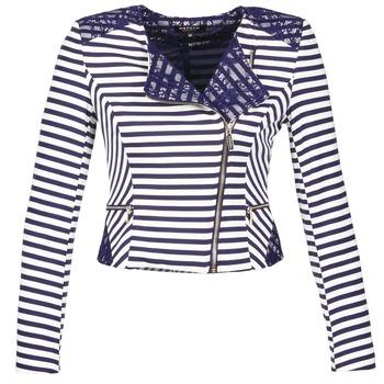 vaatteet Naiset Takit / Bleiserit Morgan VMEL Laivastonsininen / White