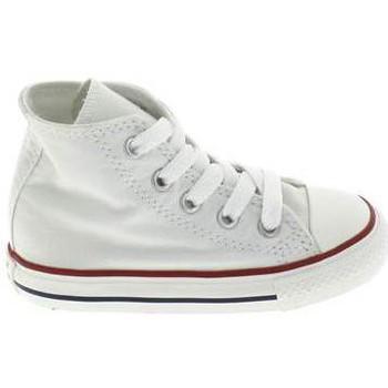 kengät Lapset Vauvan tossut Converse All Star Hi BB Blanc Valkoinen