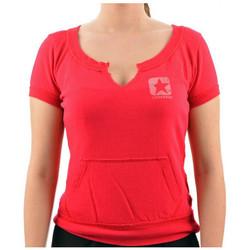 vaatteet Naiset Lyhythihainen t-paita Converse  Vaaleanpunainen