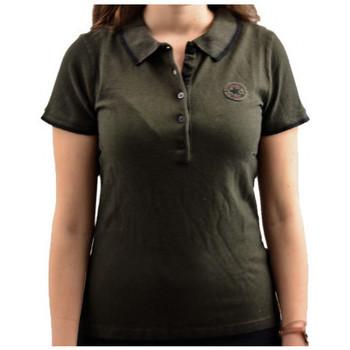 vaatteet Naiset Lyhythihainen poolopaita Converse  Musta