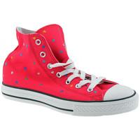 kengät Tytöt Korkeavartiset tennarit Converse  Vaaleanpunainen