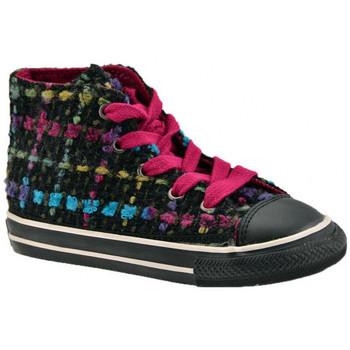 kengät Lapset Korkeavartiset tennarit Converse  Musta