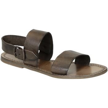 kengät Naiset Sandaalit ja avokkaat Gianluca - L'artigiano Del Cuoio 500 D FANGO CUOIO Fango