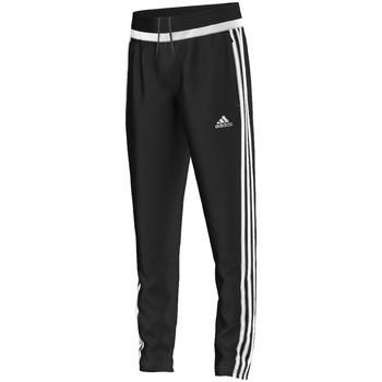 vaatteet Pojat Verryttelyhousut adidas Originals tiro15 Training Pant Jr BLACK / WHITE / BLACK