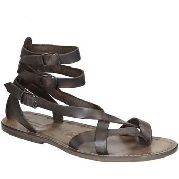 kengät Naiset Sandaalit ja avokkaat Gianluca - L'artigiano Del Cuoio 564 U FANGO CUOIO Fango