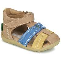 kengät Pojat Sandaalit ja avokkaat Kickers BIGBAZAR BEIGE / Blue / Yellow