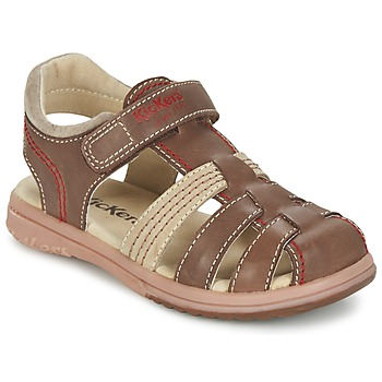 kengät Pojat Sandaalit ja avokkaat Kickers PLATINIUM Brown