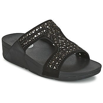 kengät Naiset Sandaalit FitFlop CARMEL SLIDE Black