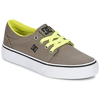 kengät Pojat Matalavartiset tennarit DC Shoes TRASE TX Taupe
