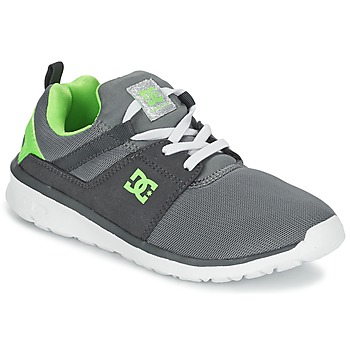 kengät Pojat Matalavartiset tennarit DC Shoes HEATHROW Grey / White / Green