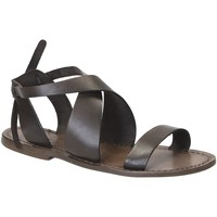 kengät Naiset Sandaalit ja avokkaat Gianluca - L'artigiano Del Cuoio 570 D FANGO CUOIO Fango